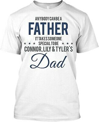 Fathers Day T- Shirt For Dad - Grandpa Personalized Custom Names Gift T-Shirt