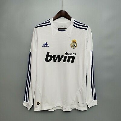 2010-11 Real Madrid Home Long Sleeve Retro Soccer Jersey