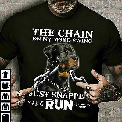 Rottweiler Dog The Chain On My Mood Swing Cool Style T-Shirt Gift For Men Women