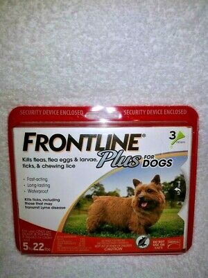 Brand NewSealed Genuine FRONTLINE Plus for 5 to 22 Pounds Dogs - 3 Doses
