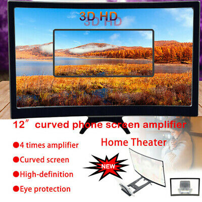 12inch Mobile Phone 3D Screen Video Magnifier Curved Amplifying Projector StYJWA