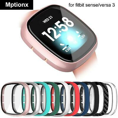 Hard Matte Protective Case For Fitbit Versa 3sense Cover Screen Protector Full