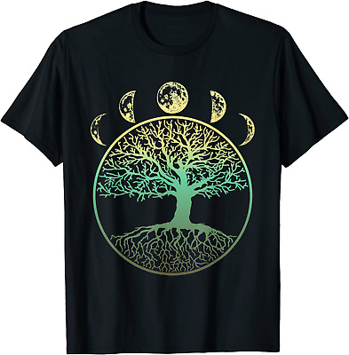 Phases Of The Moon Funny Tree Of Life Cottagecore Gift T-Shirt S-4XL