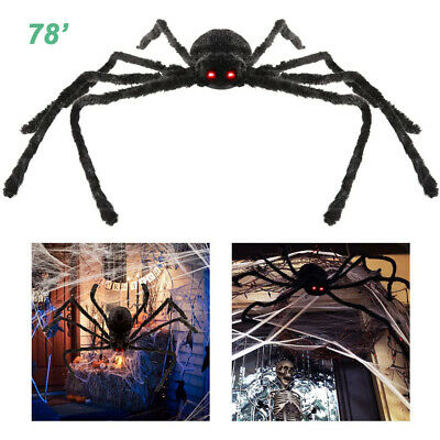 6-6 ft Large Halloween Spider Haunted House Prop Outdoor Party Garden Yard Decor