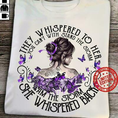 Naked Tattooed Girl Shoulder Violet Butterfly Tough Girl Cool Style T-Shirt Gift