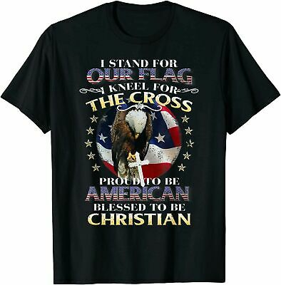 I Stand For The Flag And Kneel For The Cross T-Shirt Proud Army Style Gift S-4XL