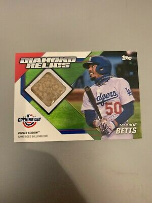 Mookie Betts 🔥 2021 Opening Day Diamond Relics Ballpark Dirt Card DODGERS Relic