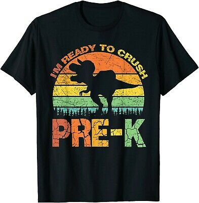 Ready To Crush Pre-K Outfit T Rex Dinosaur Back to School T-Shirt