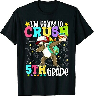 Ready To Crush 5th Grade Sloth Back To School Students T-Shirt
