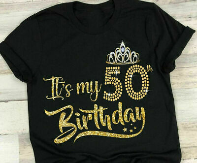 Its My 50th Birthday 50 Years Womens Style Gift T-Shirt Vintage Design S-3XL