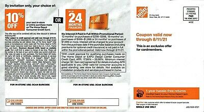 Home Depot 10 Off Up To 200 Coupon In-Store - Online Expires 081121