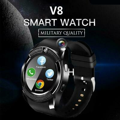 V8 Bluetooth Smart Phone Watch Waterproof SIM Camera Wrist Watches For Android
