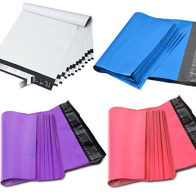 500 Bags 10x13 Poly Mailers Shipping Envelopes Mailing Bags Self Sealing 2-5 Mil