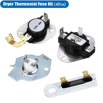 3387134 Dryer Thermostat 397739333925193977767 Thermal Fuse Kit for whirlpool