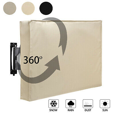 600D Weatherproof Outdoor TV Protector Full Covered for 30-85in LED LCD TV Cover