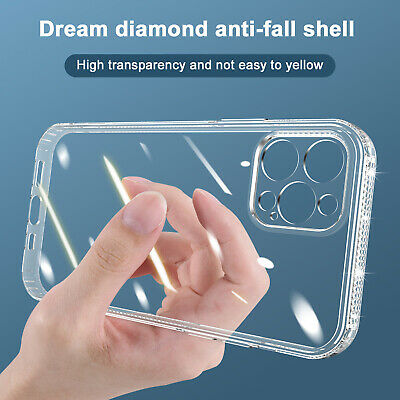 For iPhone 13 Pro Max 12 Pro Max 11 8 XR X Clear TPU Case Soft Protective Cover