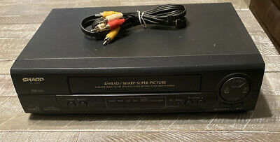 Vintage Sharp VC-400 VHS Video Cassette Recorder 4 Head NO REMOTE TESTED