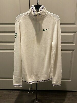 Nike Roger Federer Wimbledon 2012 Cashmere Pullover Sweater Size Small NEW RARE