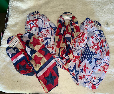 Set Of Four 4th Of July Scarfs