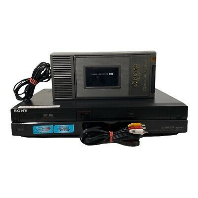 Sony RDR-VX555 Video Cassette Recorder VCR DVD Player Recorder TESTED No Remote