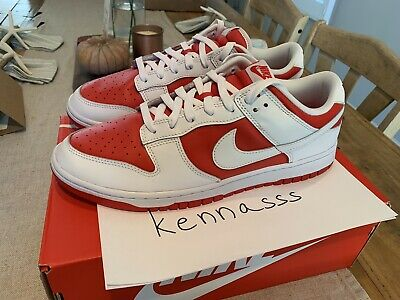 Nike Dunk Low Championship Red DD1391-600 Men's Size 12 DS IN HAND FAST SHIP