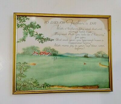 Vintage Framed Fathers Day GreetingTribute To Dad on Fathers Day Farm Scene