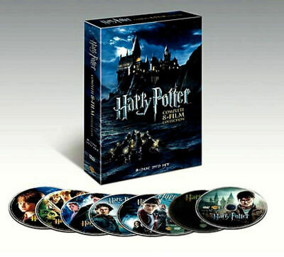 Harry Potter Complete 8-Film Collection New DVD 8-Disc Set Free Shipping