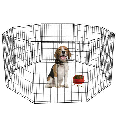 24 30 36 42 48 Tall Dog Playpen Crate Fence Pet Play Pen Exercise Cage -8 Panel-