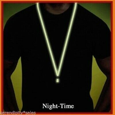 LOT of 5 Glow-in-the-Dark Neck Lanyard with Detachable End for KeysThumb Drives