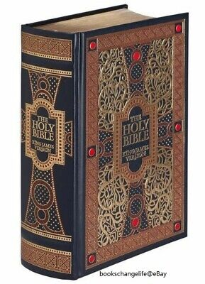 THE HOLY BIBLE King James Version KJV illustrated Gustave Dore SEALED LEATHER