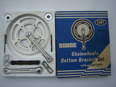 SAKAE/RINGYO SR SPRINT RG CRANKSET 40/52  165 mm + ENGLISH BB + TOOLS - NOS -NIB