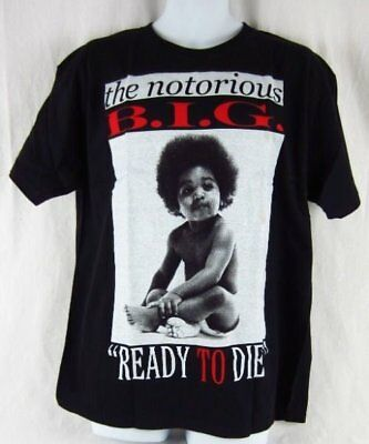 Mens New Biggie Smalls Notorious BIG Rapper Ready To Die Black T-Shirt Size S-XL