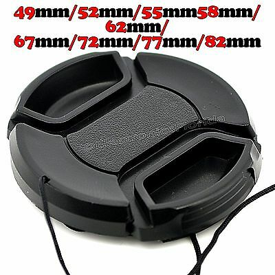 LOT - Center Pinch Photo Lens Cap cover for Camera Lenses 49 to 82 mm Universal