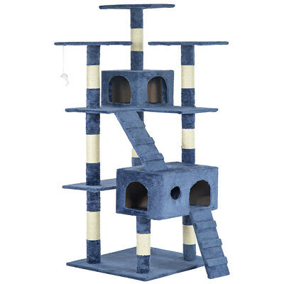 73 Cat Tree Scratcher Play House Condo Furniture Bed Post Pet House