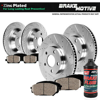 Front-Rear Brake Rotors And Ceramic Pads For Dodge Avenger Jeep Compass Patriot