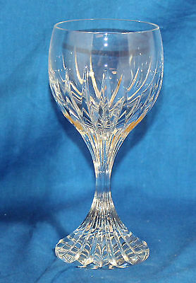 Baccarat Crystal Stemware Massena Water Goblet Glass 7 in-