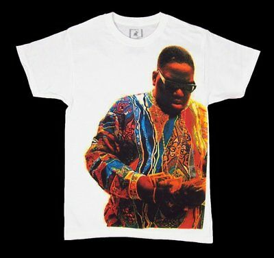 Mens NEW Biggie Notorious B-I-G- T-Shirt White Short Sleeve Tee Size Small