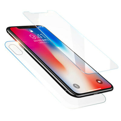 Front-Back Tempered Glass Film Screen Protector For iPhone X 8 7 6 6s Plus 5 5s