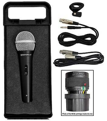 Rockville RMC-XLR High-End Metal DJ Handheld Wired Microphone Mic w 2 Cables