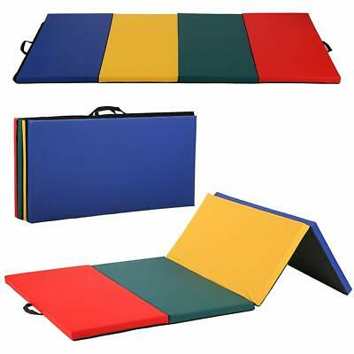 All color 4x8x2Thick Folding Panel Gymnastics Mat Gym Fitness Exercise Mat R4