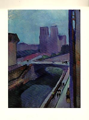 1973 Vintage MATISSE NOTRE DAME IN THE LATE AFTERNOON COLOR offset Lithograph