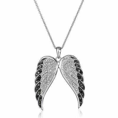 Fashion Mothers Day Angel's Wings Rhinestone Crystal Pendant Necklace Jewelry