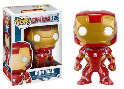 Funko Pop Marvel Captain America 3 Civil War Iron Man Vinyl Bobble Head 7224