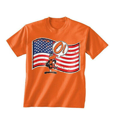 Orioles O Say Does That Star T-Shirt 4th of July FlagMemorial Day Tee XL