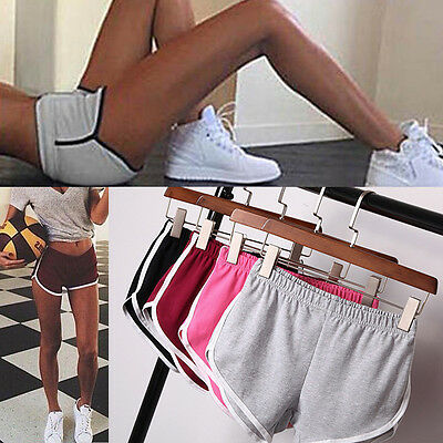 Damen Mini Shorts Sport Gym Hose Kurz Freizeit Fitness Yoga Jogging Skinny S M L