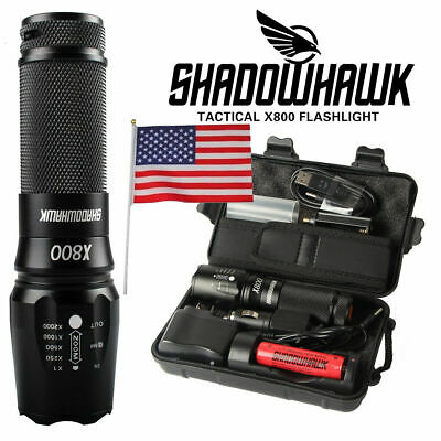 100 Genuine Lumitact G700 10000lm LED Tactical Flashlight Military Grade Torch