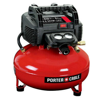 Porter-Cable C2002R 0-8 HP 6 Gallon Oil-Free Pancake Air Compressor Refurbished