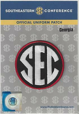 Georgia SEC Conference Jersey Uniform Patch 100 Official College Football Logo