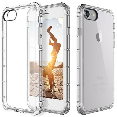 For Apple iPhone 78 Case Clear Hybrid Slim Shockproof Soft TPU Bumper Cover