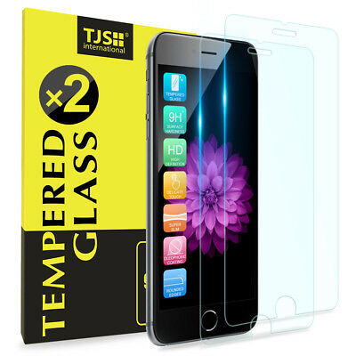 2 PACK For iPhone 876s6 TJS Premium Tempered Glass Phone Screen Protector